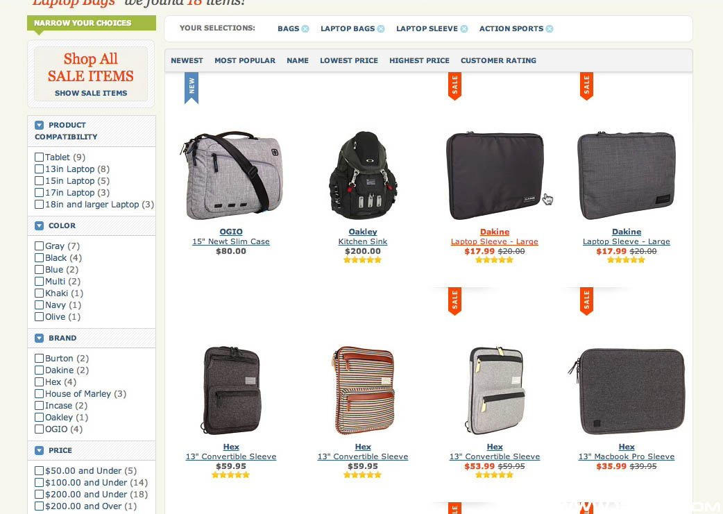 UX优化:产品列表页该如何设置?46%的电商网站都没做好